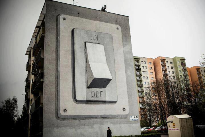street art interrupteur