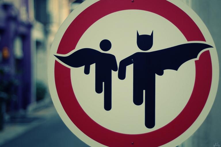 street art super heros