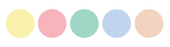 couleurs de l'été pastels