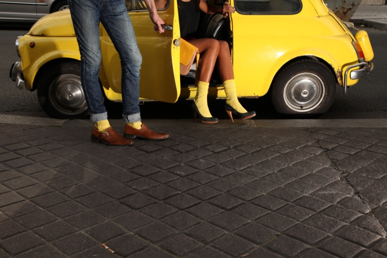 OhMySocks Mini Jaune Chausettes