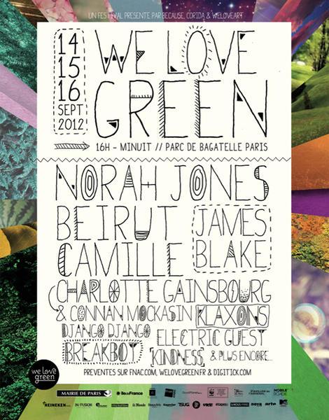 Festival We Love Green affiche de la programmation